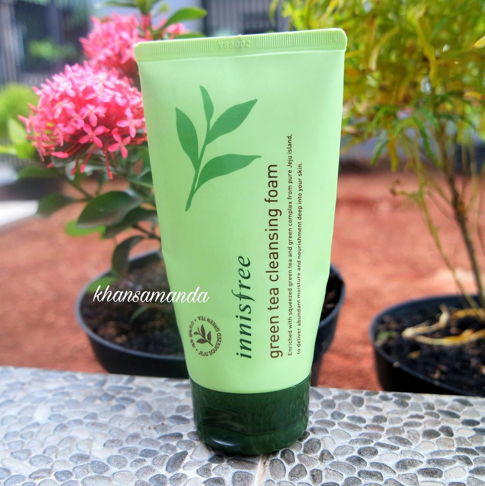 innisfree green tea cleansing foam review