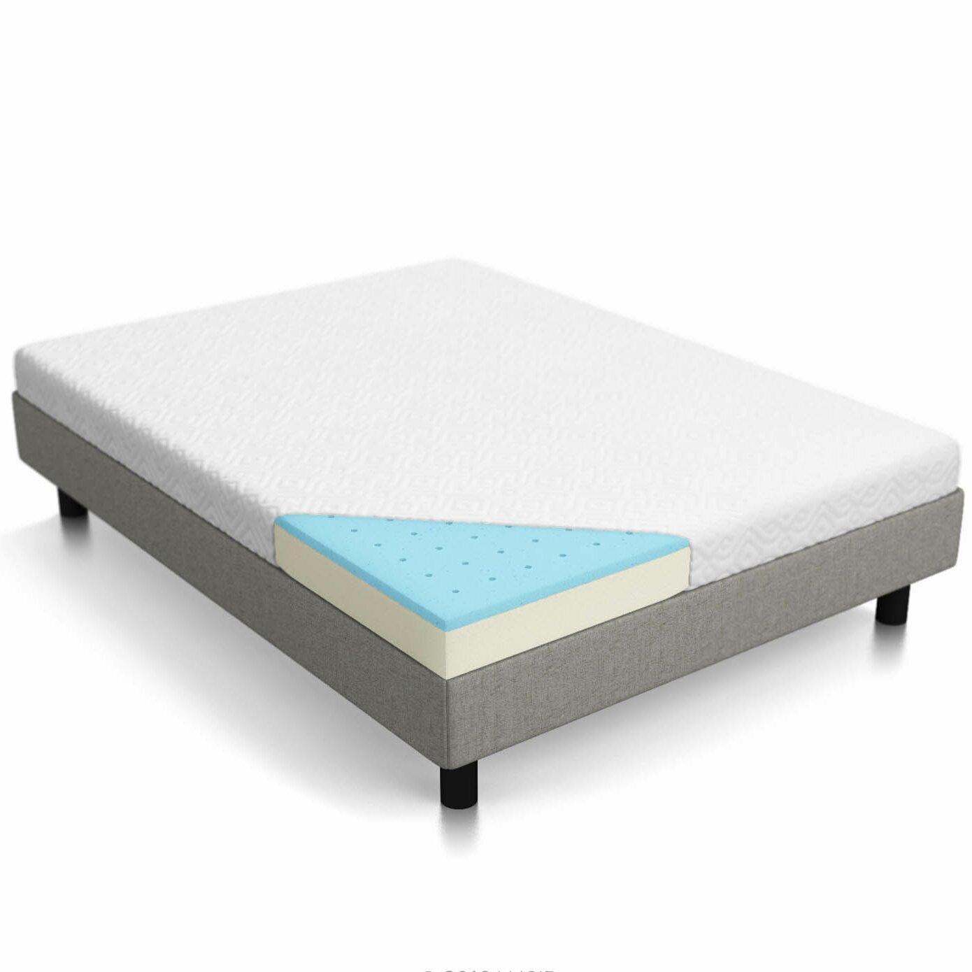 lucid gel memory foam mattress review