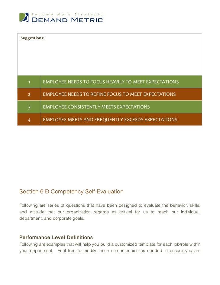 customer focus skills performance review