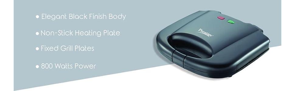 prestige pgmfb 800 watt grill sandwich toaster review