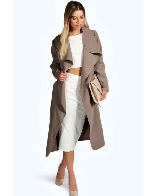 kate belted shawl collar coat review
