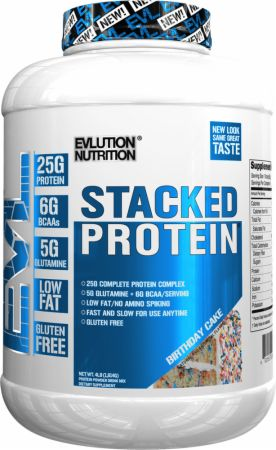 evlution nutrition stacked protein review