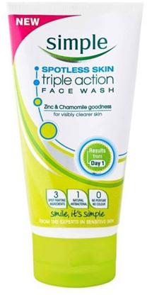 simple spot face wash review